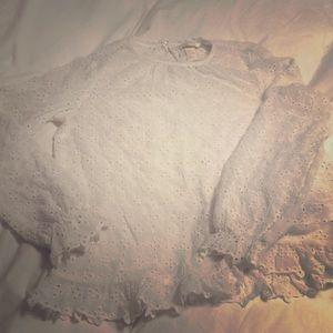 H&M eyelet blouse. Off white. Sz 2